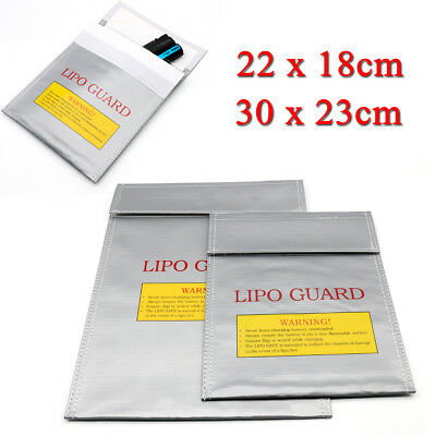 2Size Glass Fiber Fireproof LiPo Battery Safety Bag Guard Safe Charging Sack UK