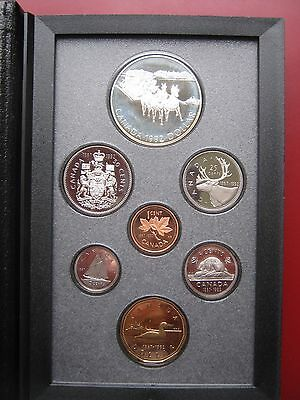 Canada 1992 Cent -1$ proof 7 coin set collection with silver Stagecoach COA box