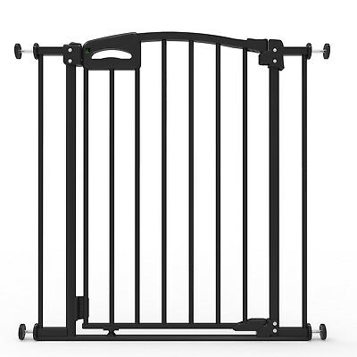 Perma Child Safety ULTIMATE SAFETY GATE 73-82cm Wide, 76cm Tall,Auto Close BLACK