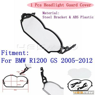Motorcycle Clear Headlight Guard Cover Protector For BMW R1200GS 2005-2012 2006