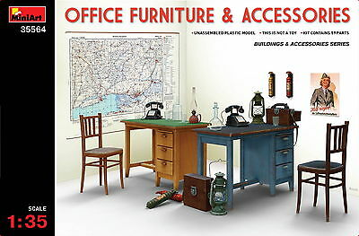 MiniArt 35564 OFFICE  FURNITURE & ACCESSORIES 1/35 plastic model kit