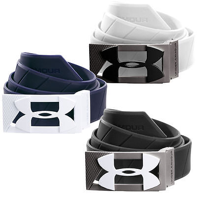 "UnderArmour Mens Silicone Golf Belt - One Size Adjustable Up to 42"" Inches"