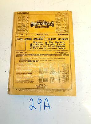 Official Railway Equipment Register JANUARY 1955