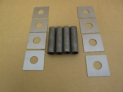 Sill stand tubes x4 & Plates x 8 for 20mm pin steel - Weld in sill - Race, Rally