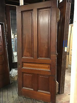 "Antique Pine 42"" X 95"" X 2.25"" Pocket Door 5 Panel  Rolling Track Door"