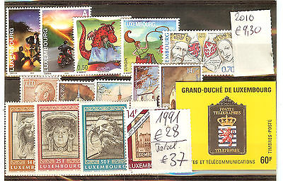 Lot Timbres Luxembourg Neuf ** 1991 Et 2010