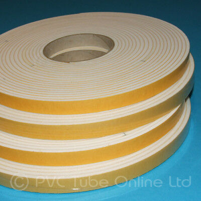 Draught Draft Excluder 4.5mm x 15mm Wide White Single Sided Adhesive Foam Tape