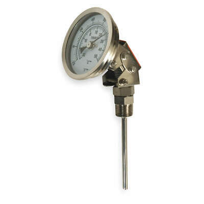 GRAINGER APPROVED Bimetal Thermom,5 In Dial,-20 to 120F, 1NGB9