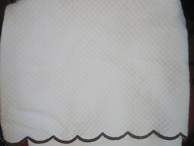 NWT POTTERY BARN Kids Quilted Crib Skirt in Brown
