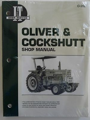 New Oliver Shop Manual for Tractor Models 1555 1650 1755 1850 1950 2255 #O-202