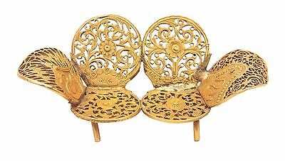 Miniature chair sofa carved antique gilded DOLL bronze handmade of pocket watch