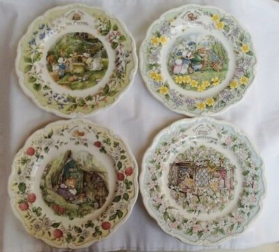 All Four Brambly Hedge Surprise Outing Plates - Series of 4 Plates - 1st Quality