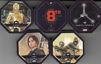"Lot De 5 X Cartes Star Wars ""Rogue One / 2016""....."