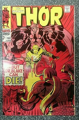 Mighty Thor #153 VF+ OR 8.5 HIGH GRADE