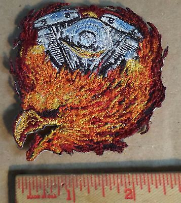 Harley flaming Eagle Shovelhead patch collectible Deuce Twin Cam HD motor emblem