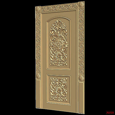 (510) STL Model Door for CNC Router 3D Printer  Artcam Aspire Bas Relief