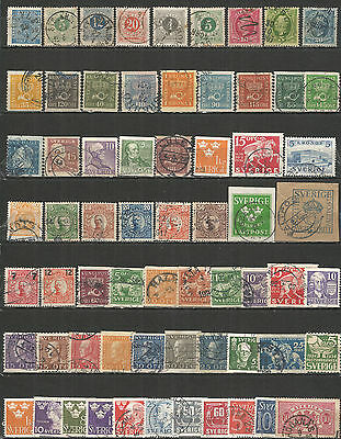 Sweden from 1858 year, nice Collection used stamps