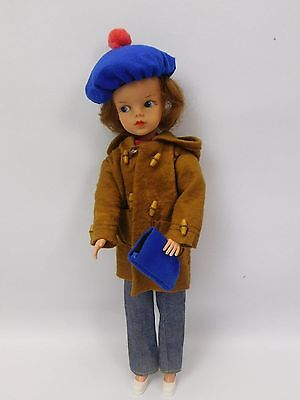 Vintage Pedigree Sindy Doll 1963 Made In England Weekender Outfit & Duffle Coat