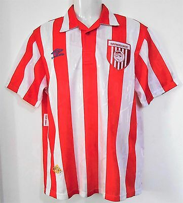 Olympiakos Football Shirt 1992-94 Vintage Home Strip Official Authentic Umbro M