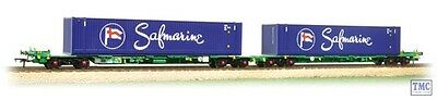 37-314 Bachmann OO Gauge Intermodal Bogie Wagons with 45ft Containers Safmarine
