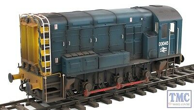 7D-008-002 Dapol O Gauge BR Class 08 D3045 Blue with Wasp Stripes TMC Weathered