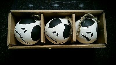 nightmare before christmas painted baubles halloween decoration