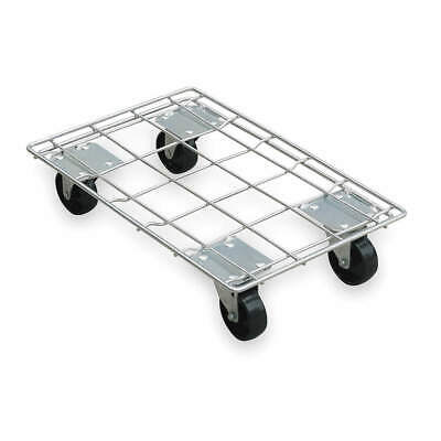 GRAINGER APPROVED Dolly,880 lb., 2TUR1, Silver