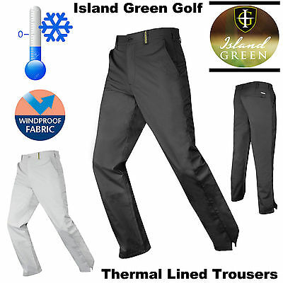 Mens Winter Golf Trousers Lined Thermal Golf Pants Island Green  * 40% Sale *