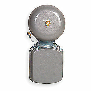 GRAINGER APPROVED Bell,6 to 8VAC or 3 to 6VDC,1.20A,Gray, 1FD15, Gray