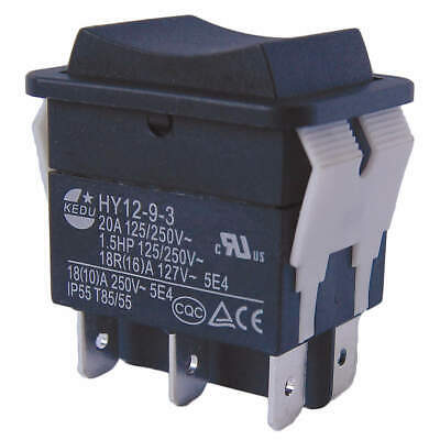 POWER FIRST Rocker Switch,DPDT,6 Connections, 29FG35