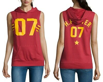 Harry Potter Quidditch Sleeveless Hoodie Sweatshirt - Juniors S XL - New w/Tags!