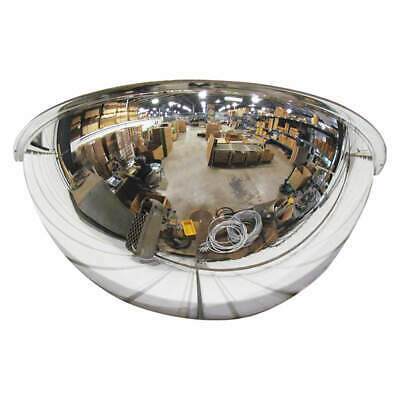 GRAINGER APPROVED Half Dome Mirror,36In.,Polycarbonate, ONV-180-36-PC