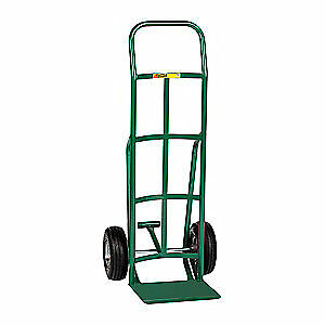 GRAINGER APPROVED Steel Hand Truck,800 lb.,Continuous, TF-200-10P, Green