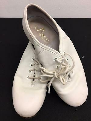 Dance Shoes Clogging White Lots of Sizes Steven Stompers Buck Split & Full Sole