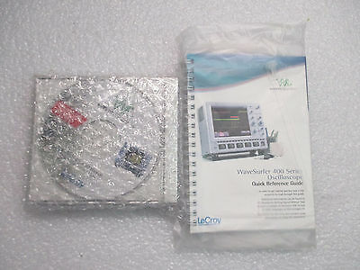 Lecroy Wavesurfer 400 Series Reference Guide & Software Bundle NEW!!!