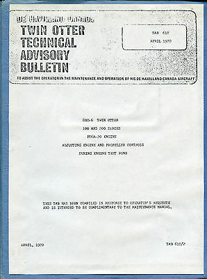 De Havilland Canada Twin Otter Technical Advisory Bulleten