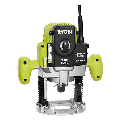 Ryobi 2 HP 10-Amp motor Plunge Base Router Fxed New Free Shipping