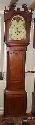 Early 19th Cent Moon Dial Longcase Clock