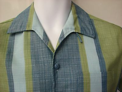 Men's vintage casual shirt loop collar 1960s high quality oven set brand