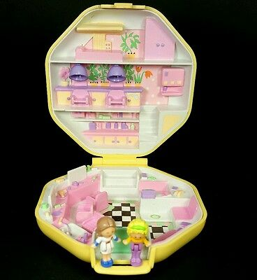 ☆COMPLETE☆Polly Pocket 1990 POLLY'S HAIRDRESSING SALON Vintage Bluebird Mini