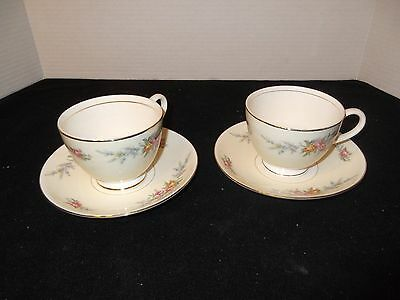 2 Homer Laughlin Eggshell Nautilus Ferndale Cups and Saucers China, Pristine!!!