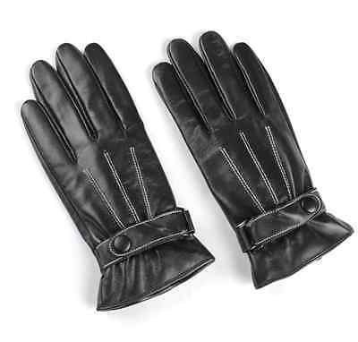 Mens Touch Screen Winter Gloves Wool Leather Thermal Lined Phone Texting Gloves