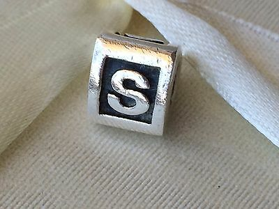Authentic Pandora Charm Alphabet Initial Letter S 790323 retired