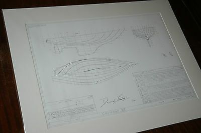 NEW Contessa 32 Yacht Signed Limited Edition Copy of Original 1969 Drawing