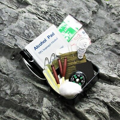 MINI TIN POCKET SURVIVAL KIT scouts cadets military camping hiking bushcraft EDC