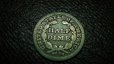 1847 H10C Liberty Seated Half Dime