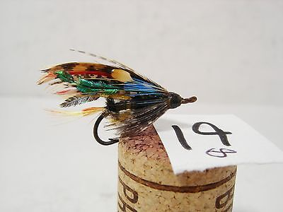 Vintage Antique Salmon Sea Trout Gut Eye Fly Size 8