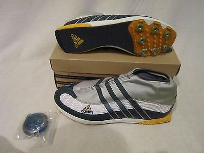 Men's Adidas Triple Jump Track and Field Shoes Silver Size 9.5 Made in Germany