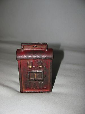 Vtg Antique Cast Iron US Mailbox Bank AC Williams Hubley Arcade?