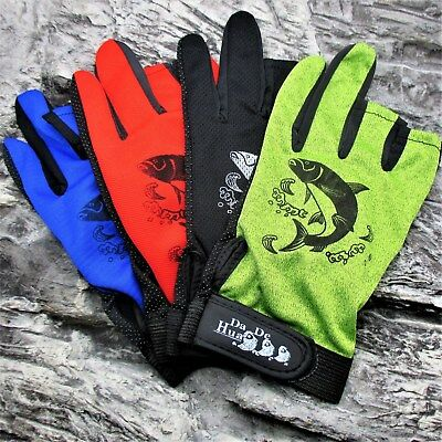 ANTI SLIP PALM EXTRA GRIP FISHING GLOVES course sea fly ONE SIZE FITS MOST